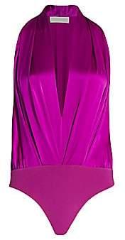 Mason by Michelle Mason Women's Pleated Halter Bodysuit - Size 0