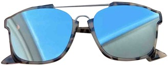 Christian Dior Abstract Turquoise Plastic Sunglasses