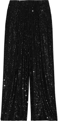 Diane von Furstenberg Rhiannon Sequined Mesh Wide-leg Pants