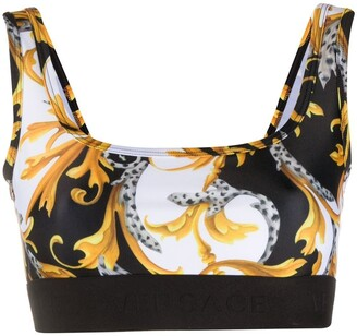 Versace Baroque-Print Sports Bra