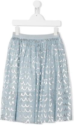 Stella McCartney TEEN metallic details tulle skirt