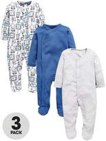 Mini V By Very Baby Boys 3 Pack Sleepsuits