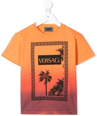 Versace tropical sunset T-shirt