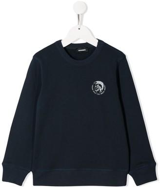 Diesel printed cotton sweater