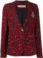 Shirtaporter leopard print blazer