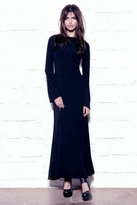 For Love and Lemons Zenith Maxi Dress in Black