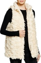 Aqua Reversible Faux Fur Vest