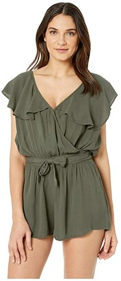 O'Neill Dash Cover-Up (Olive) Women's Swimsuits One Piece