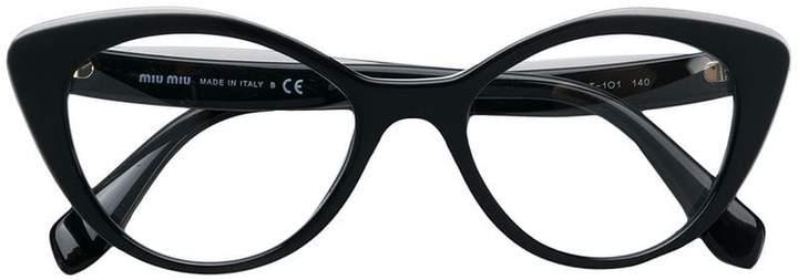 Miu Miu cat eye logo glasses