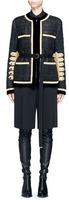Givenchy Velvet trim six-band sleeve embroidered tweed jacket