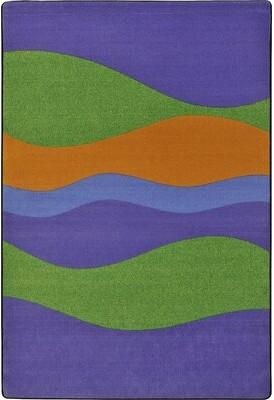 """Joy Carpets Flow Violet Kids Rug Rug Size: 5'4"""" x 7'8"""""""