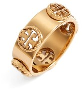 Tory Burch Women's Milgrain Logo Ring
