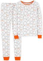 Carter's Baby Girls 2-Pc. Ghost-Print Snug-Fit Cotton Pajama Set