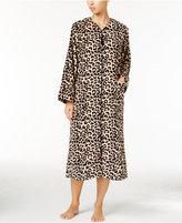 Miss Elaine Plush Fleece Zip-Front Long Robe
