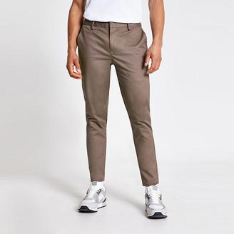 River Island Bruise purple skinny chino trousers
