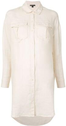 James Perse Sheer Military Shirt