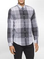 Calvin Klein Slim Fit Tonal Plaid Voile Shirt