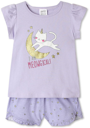 Milkshake Cat & Moon Pyjama Set