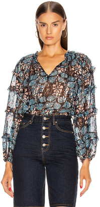 Ulla Johnson Roma Blouse in Indigo | FWRD