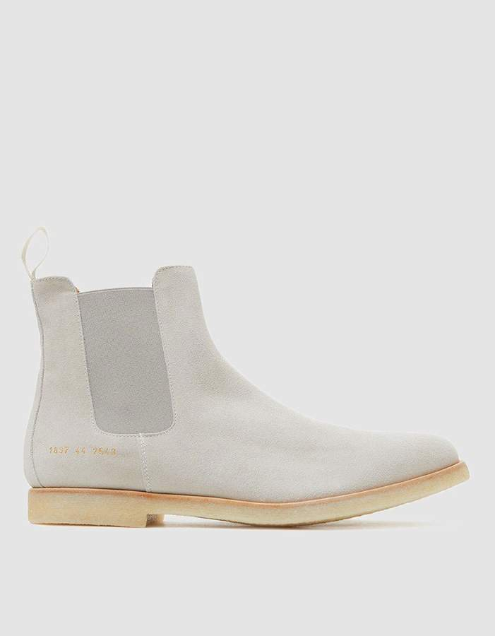 Common Projects Chelsea Boot in Grey Suede