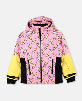 Stella Mccartney Kids Stella McCartney 3d lightning ski jacket