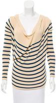 Jean Paul Gaultier Hooded Striped Top