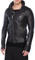 Rick Owens Leather Asymmetrical Jacket