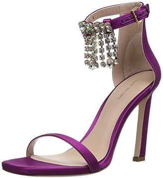 Stuart Weitzman Women's 100FRINGESQUARENUDIST Sandal