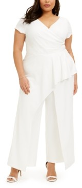 Adrianna Papell Plus Size Peplum Jumpsuit