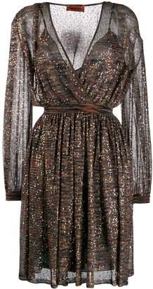 Missoni sequin embellished flared dress