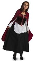 Disguise Red Riding Hood Deluxe Adult Costume - 12-14