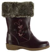 Kangol Kids Felicity Boots Infant Girls Shoes Faux Fur Trim Mid Calf Equestrian