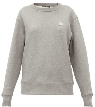 Acne Studios Fairview Face Cotton Sweatshirt - Womens - Light Grey