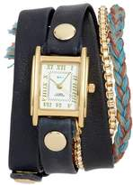 La Mer Brunello Leather & Chain Wrap Watch, 25mm