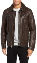 Andrew Marc Outpost Leather Shirt Collar Jacket
