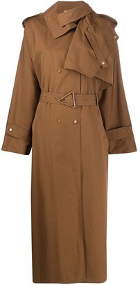 Bottega Veneta Asymmetric Flap Trench Coat