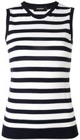 DSQUARED2 striped sleeveless knit top