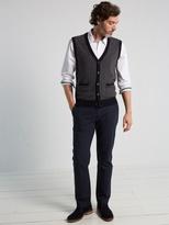 White Stuff Loch stripe knitted waistcoat