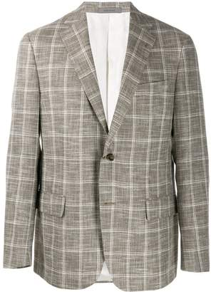 Corneliani check Gate blazer