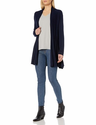 Colourworks Colour Works Women's Long Sleeve Ruffle Bottom Open Cardigan