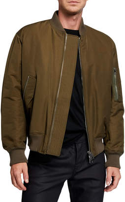 Bottega Veneta Men's Coated Zip-Front Bomber Jacket