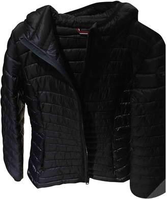 Napapijri Navy Leather Jacket for Women