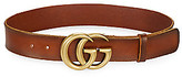 Gucci Women's Leather Belt with Double G Buckle