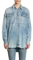 R 13 Oversized Denim Shirt