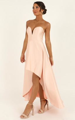 Showpo Dancing With Our Hands Tied Dress in blush - 4 (XXS) Dresses