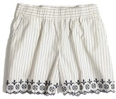 Madewell Women's Embroidered Jardin Shorts