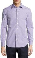 Armani Collezioni Box Check Cotton Sport Shirt, Multicolor
