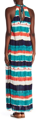 ECI Striped Tie Dye Maxi Dress