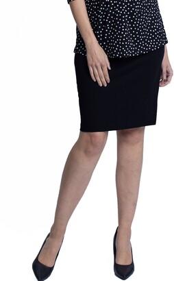 Angel Maternity Ponte Maternity Pencil Skirt