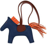 Hermes - Vintage Luxury Grigri Rodeo Leather Bag Charm - Women's
